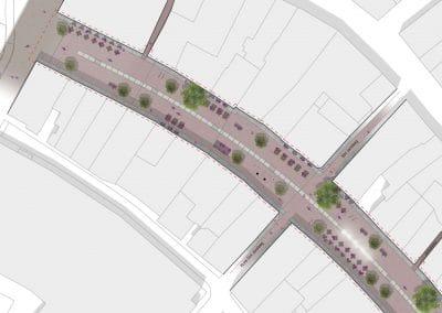 150225 DO herinrichting Rijnstraat Woerden - plattegrond A0-lig kleur COPY TOEKOMST BEELD RGB - UITSNEDE 2