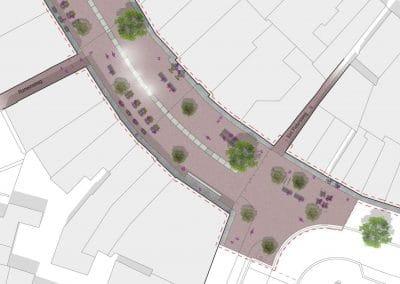 150225 DO herinrichting Rijnstraat Woerden - plattegrond A0-lig kleur COPY TOEKOMST BEELD RGB - UITSNEDE 3