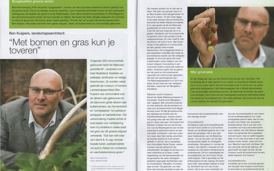 Interview in VHG magazine (2015)