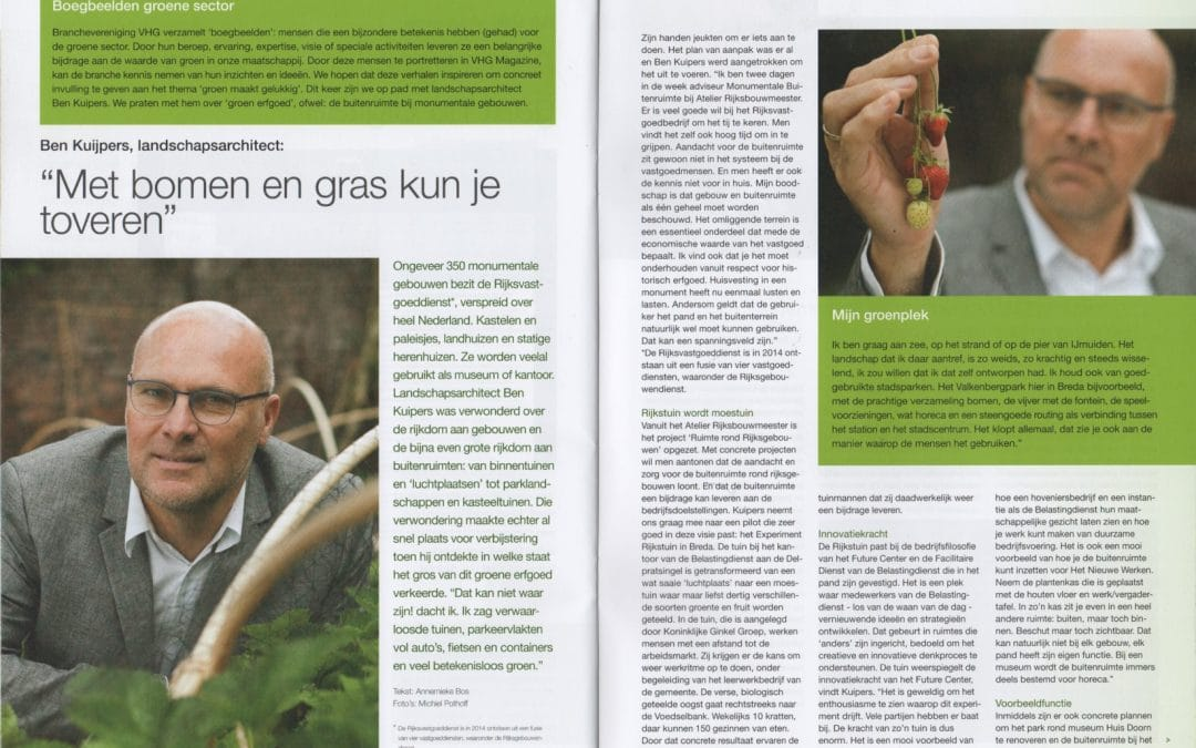 Interview in VHG magazine (2015)
