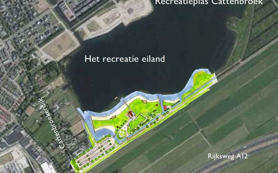 Plan voor recreatie eiland Cattenbroek